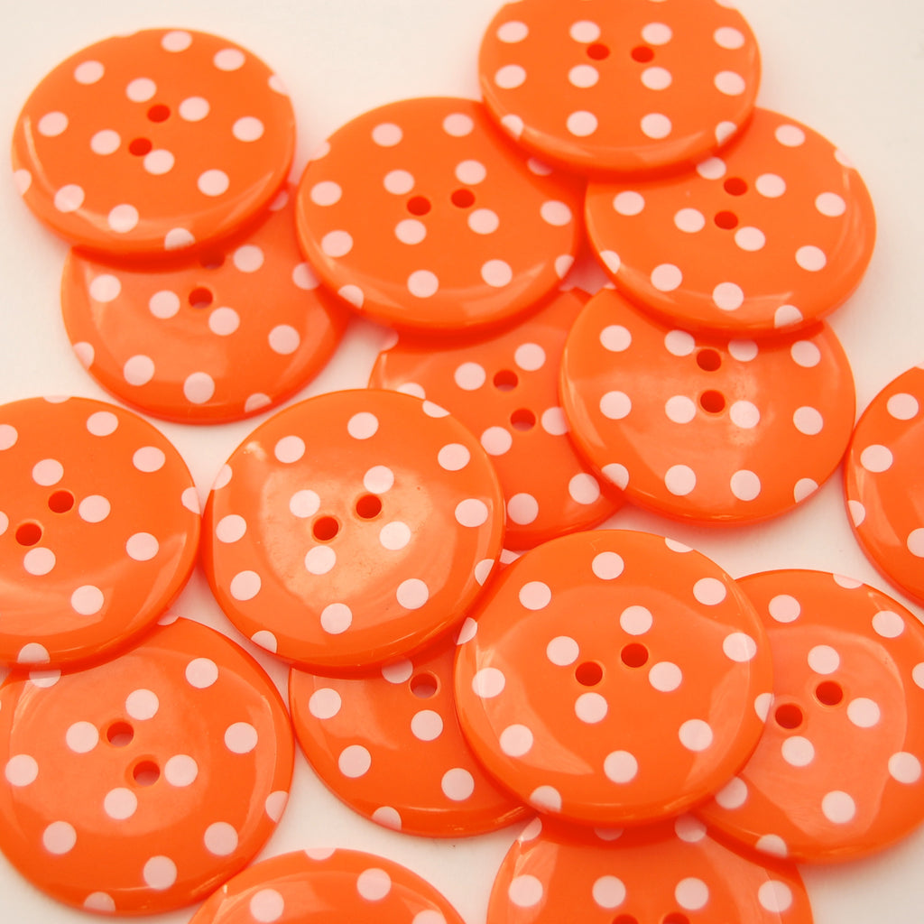 Big Tangerine Spotty Buttons