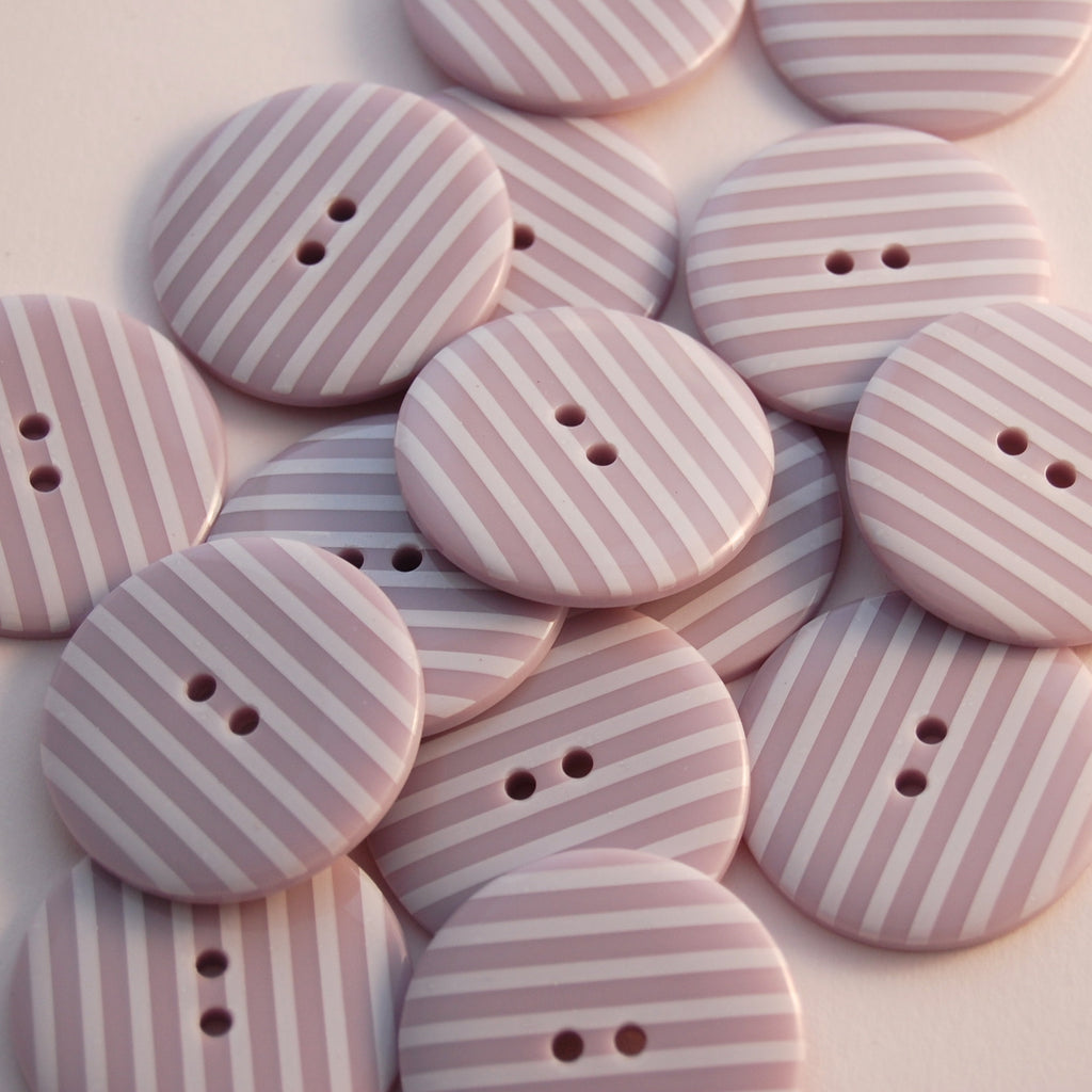 Big Lilac Stripy Buttons