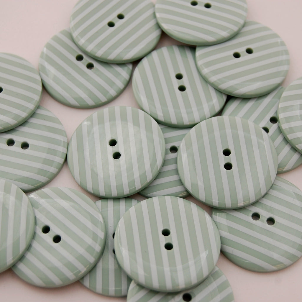 Big Mint Stripy Buttons