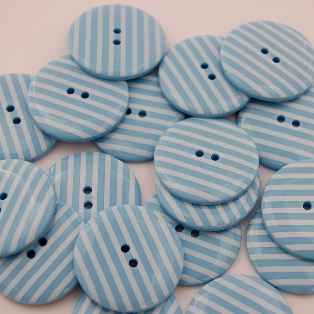 Big Blue Stripy Buttons