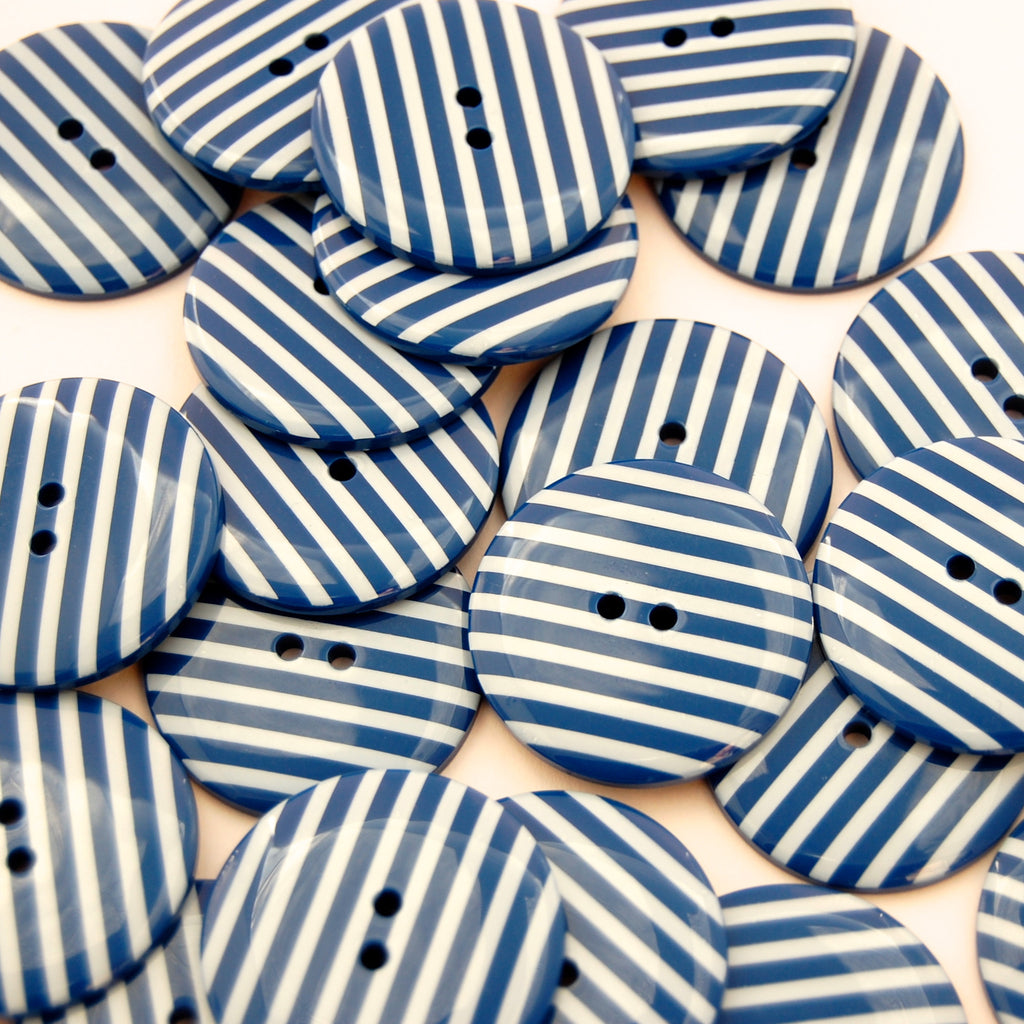 Big Navy Stripy Buttons