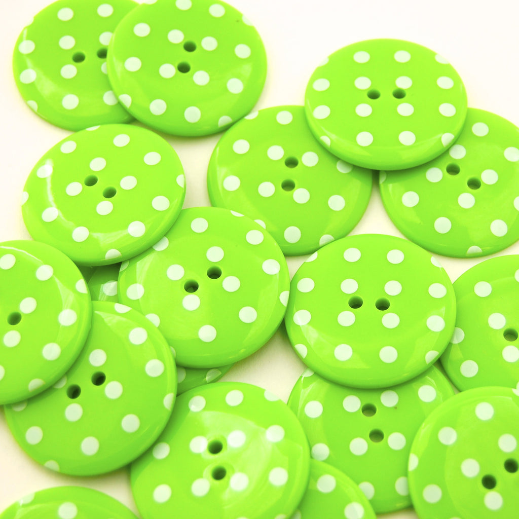 Big Lime Spotty Buttons