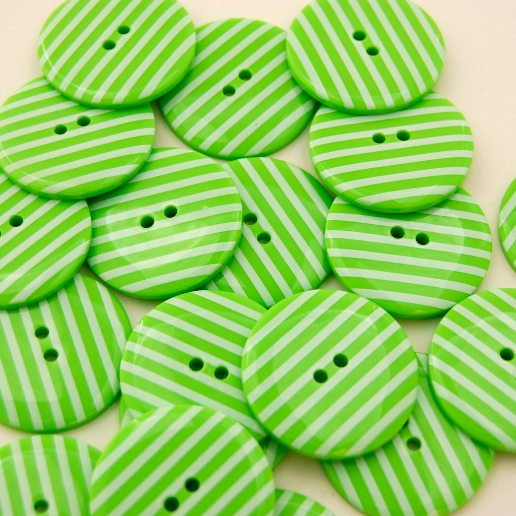 Big Lime Stripy Buttons