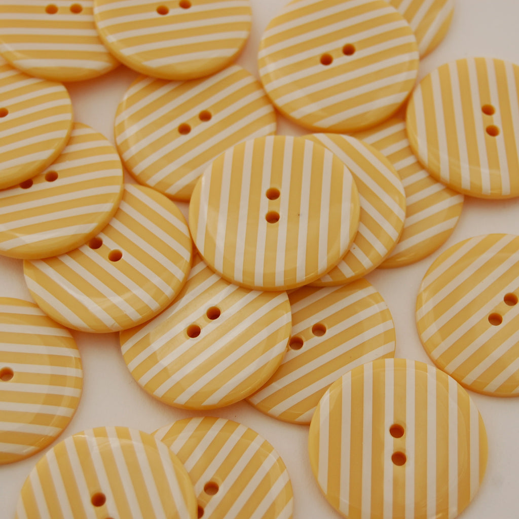 Big Vanilla Stripy Buttons