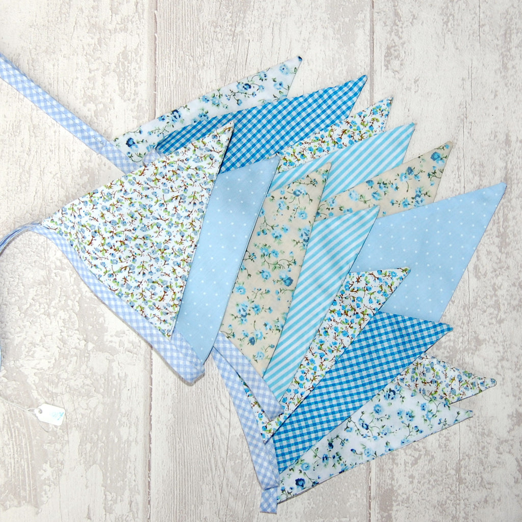 Blue Cottage Shabby Chic Bunting over 3 metres