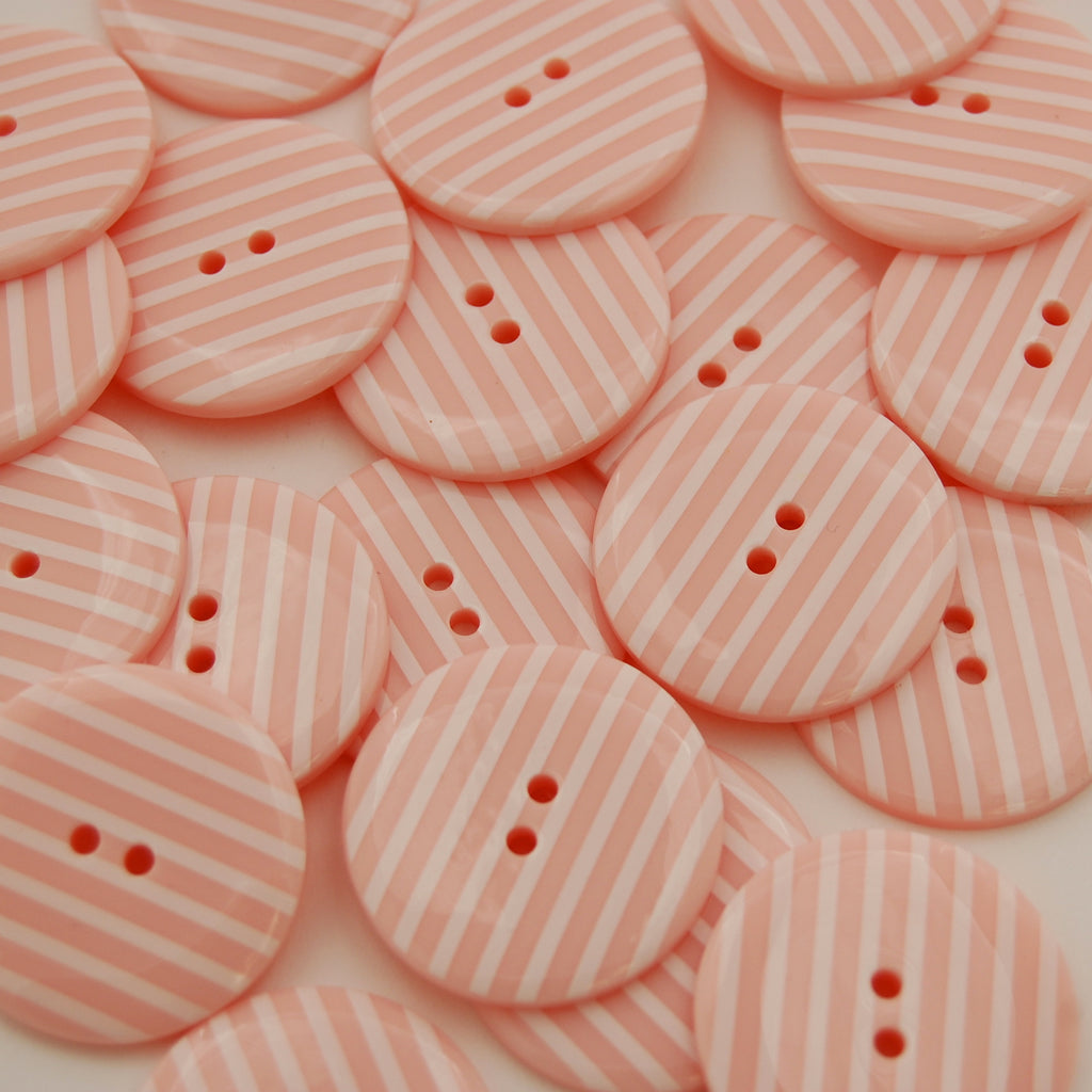 Big Baby Pink Stripy Buttons