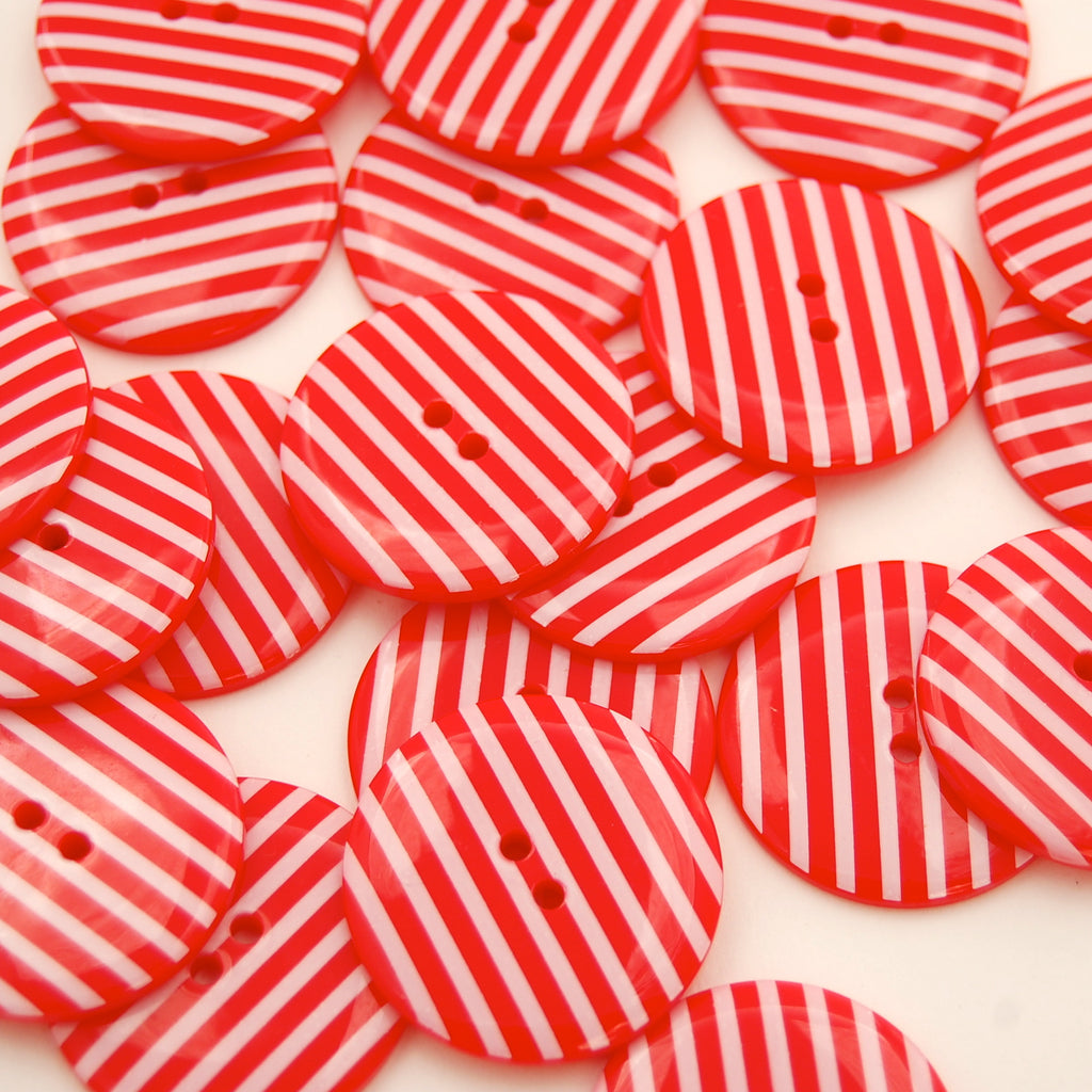 Big Red Stripy Buttons