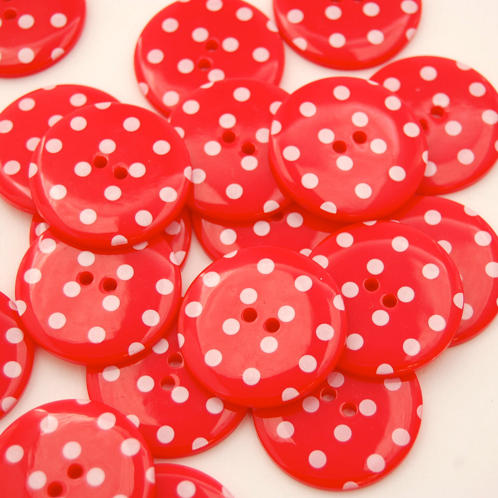 Big Red Spotty Buttons