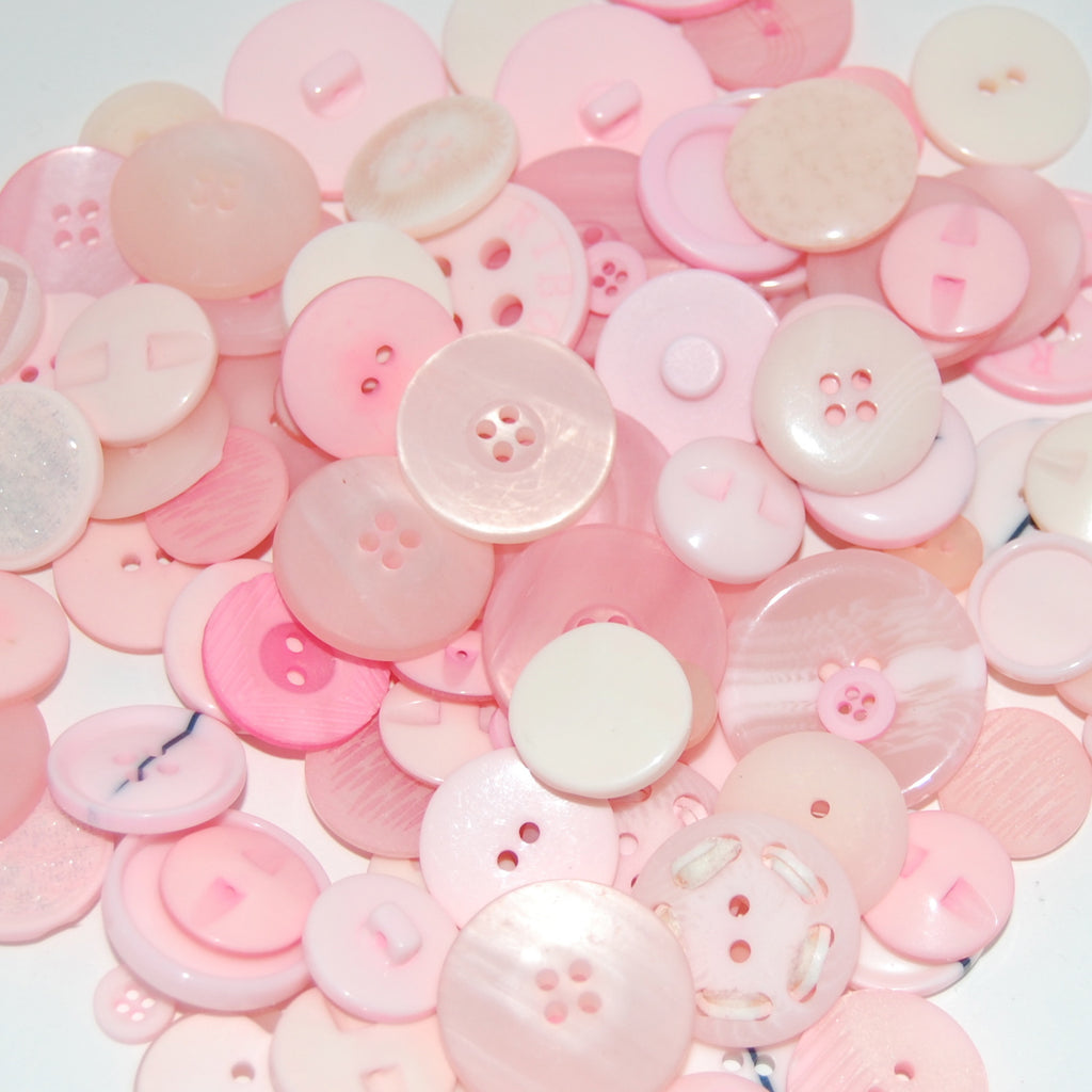 Baby Pink Mix Buttons 50g