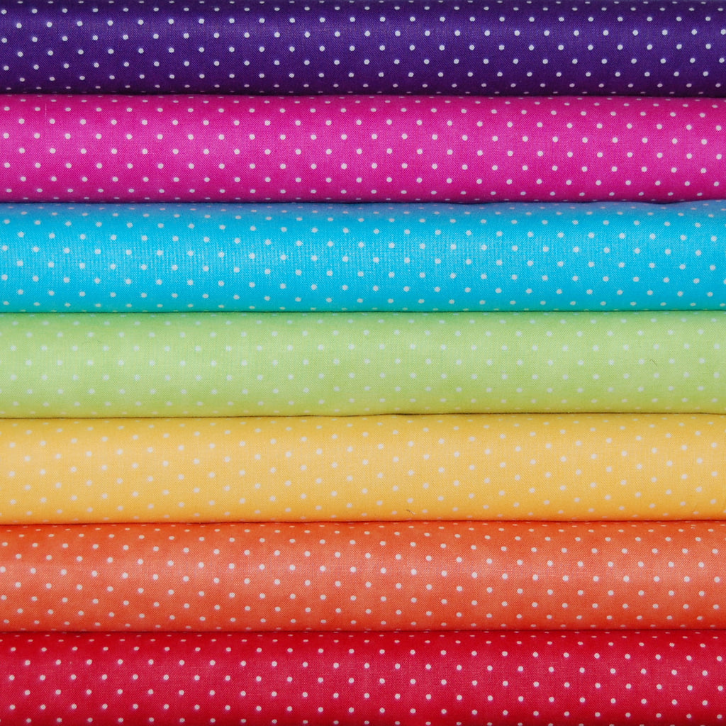 Moda Essential Dots Rainbow Brights bundle