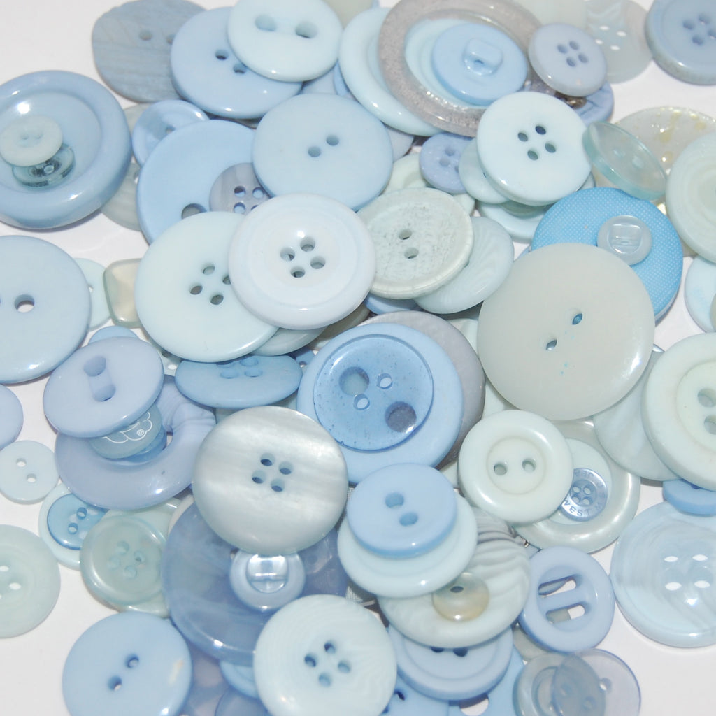 Baby Blue Mix Buttons 50g
