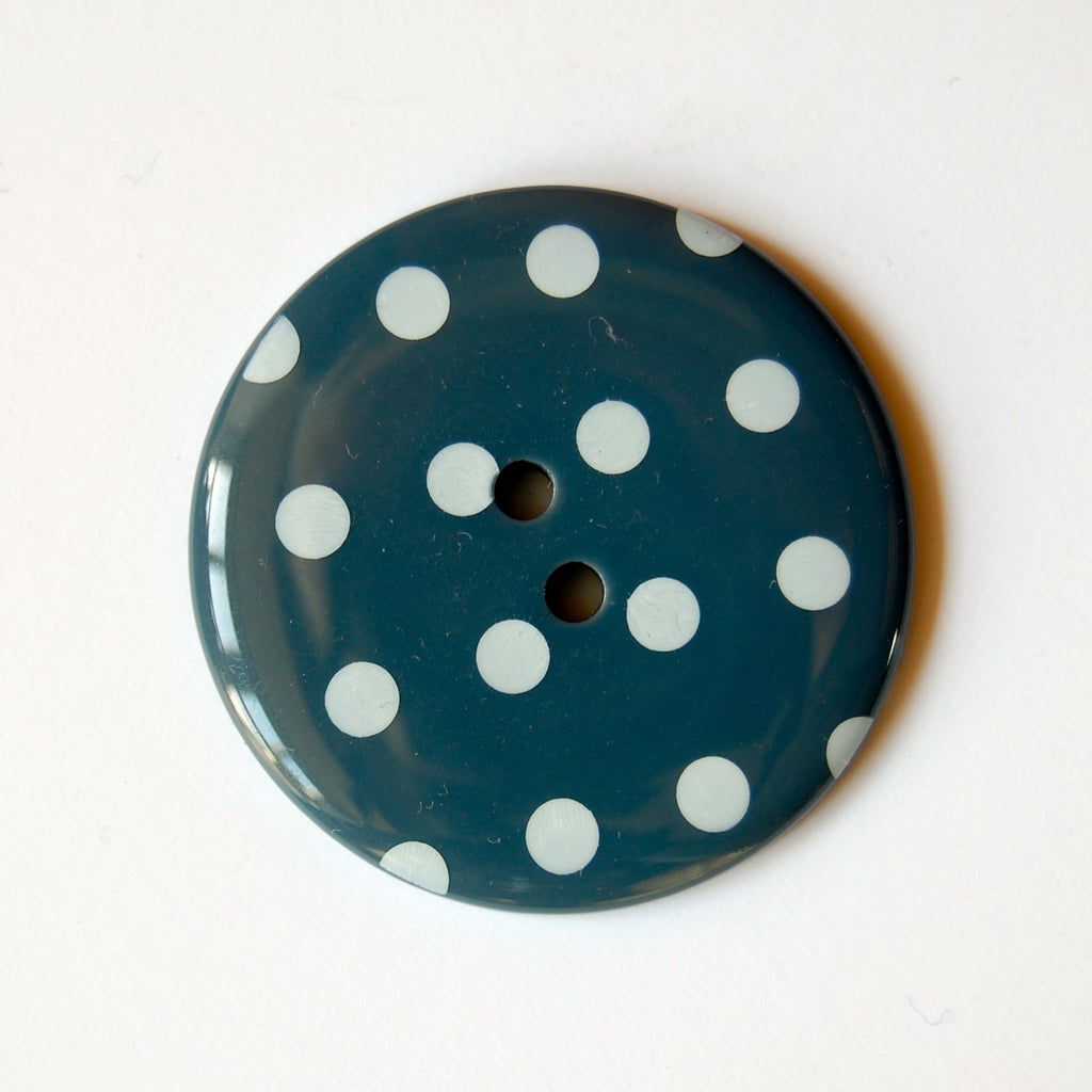 Big Teal Spotty Buttons