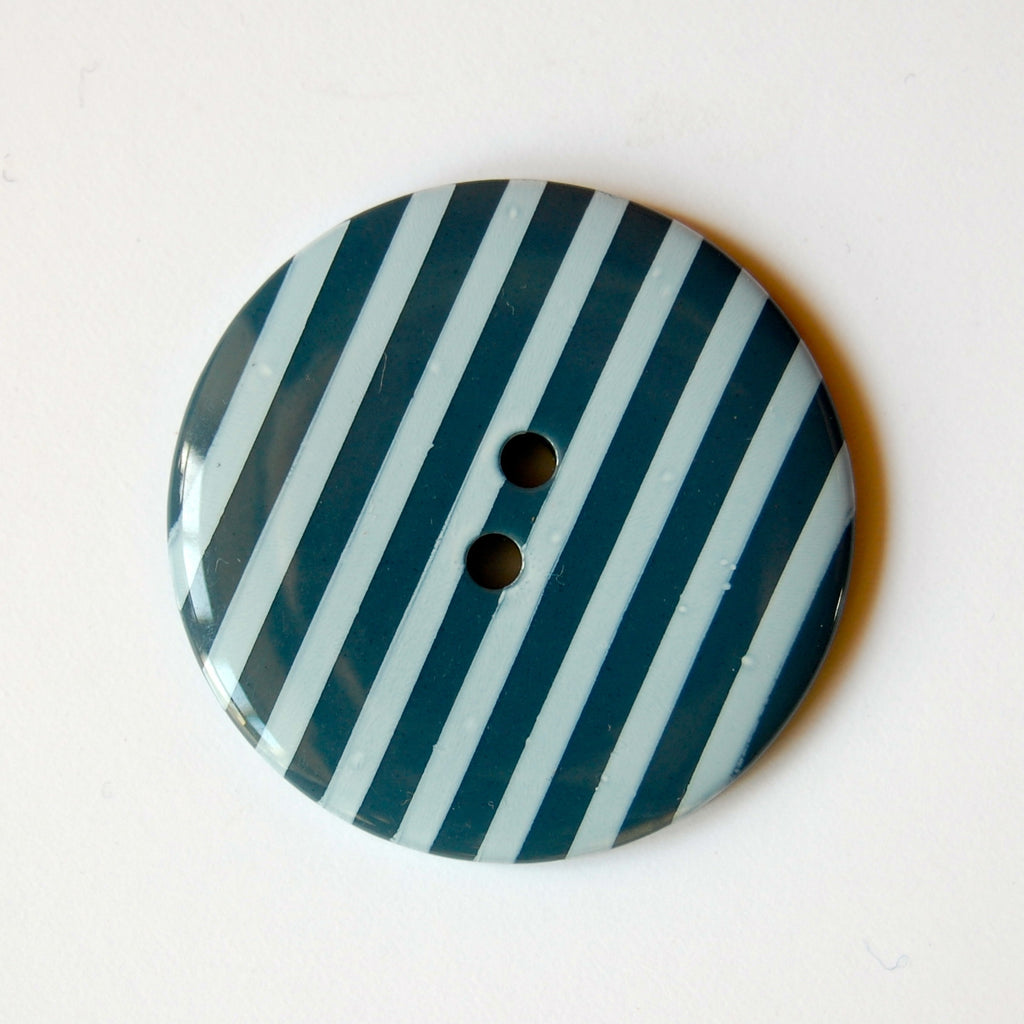 Big Teal Stripy Buttons