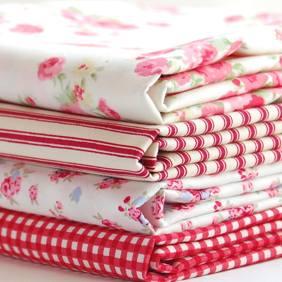 Rose & Hubble cotton poplin bundle red x 4