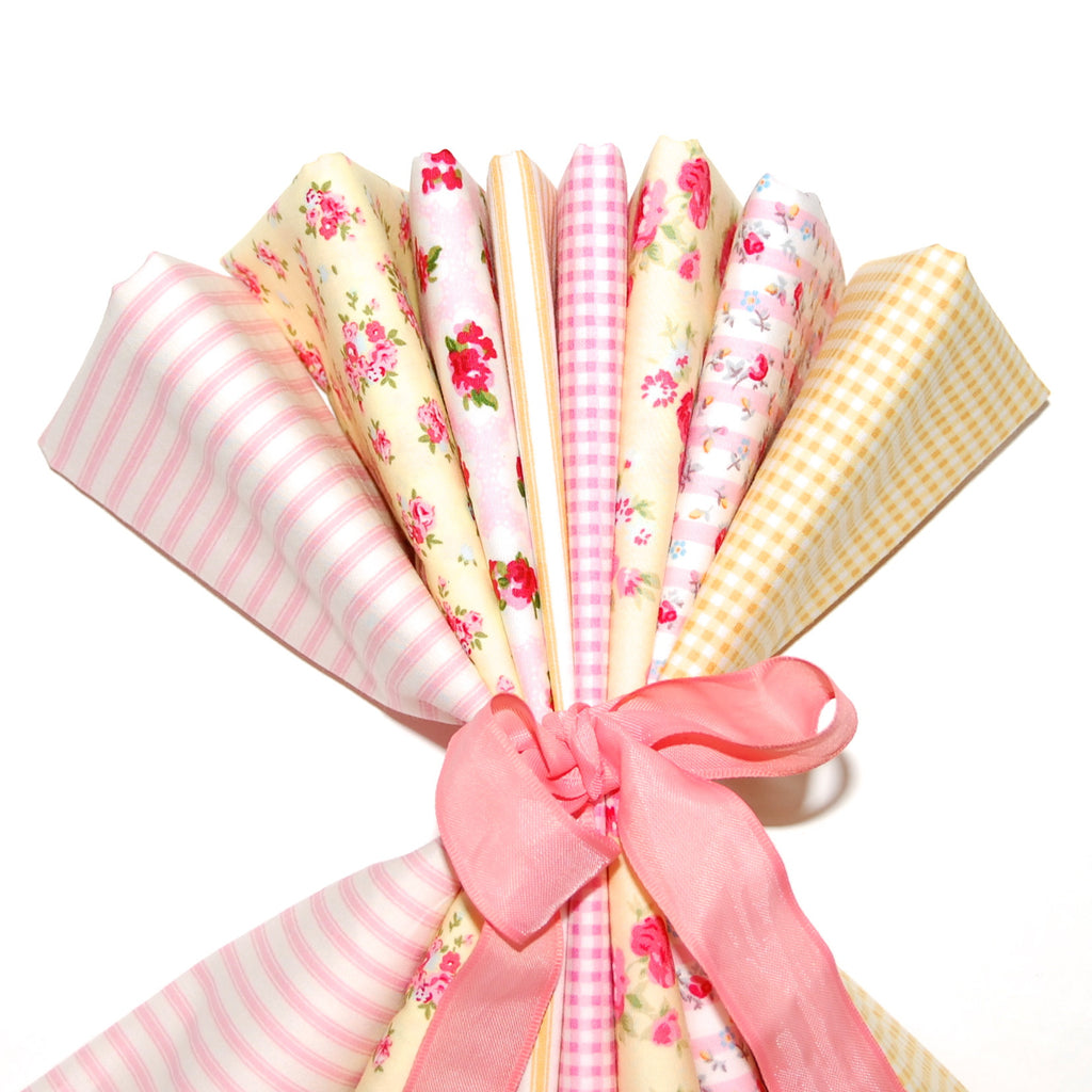 Rose & Hubble cotton poplin bundle Pink Lemonade x 8
