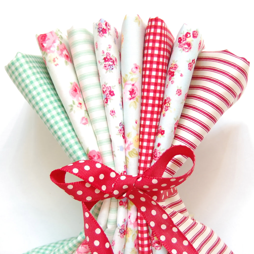 Rose & Hubble cotton poplin bundle Christmas x 8
