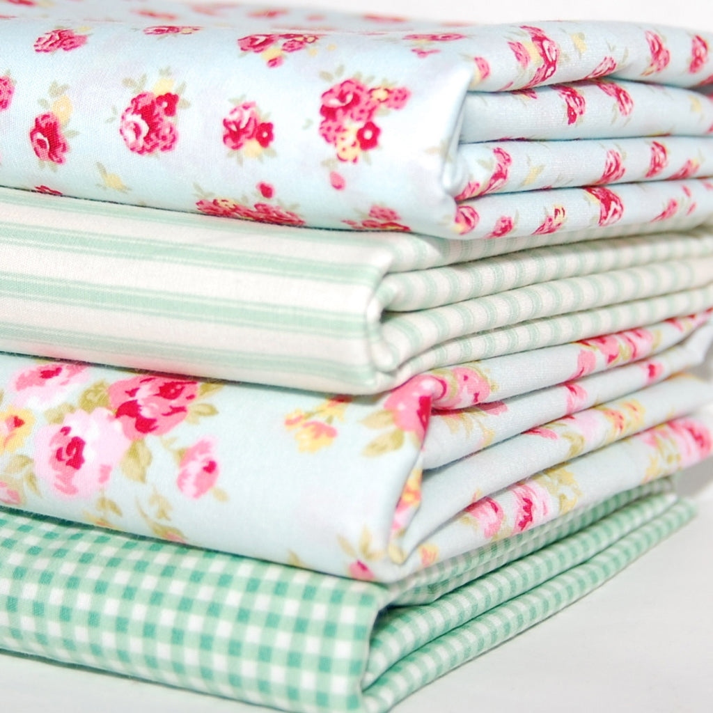 Rose & Hubble cotton poplin bundle mint x 4