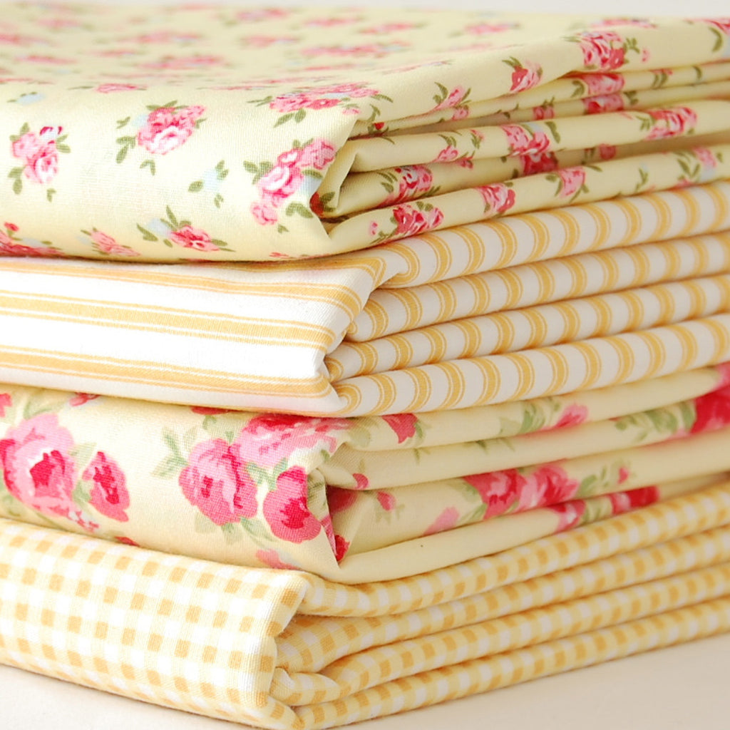 Rose & Hubble cotton poplin bundle lemon x 4
