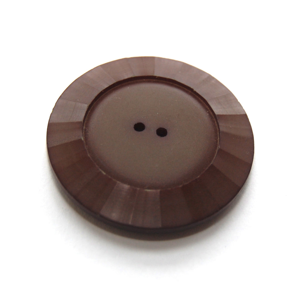 Large Brown Plastic Bakelite  Button