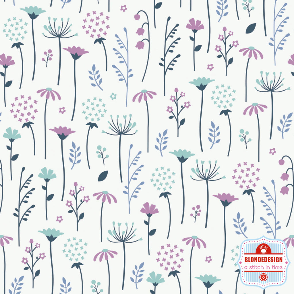 Ethereal Flowers in white by Camelot Fabrics