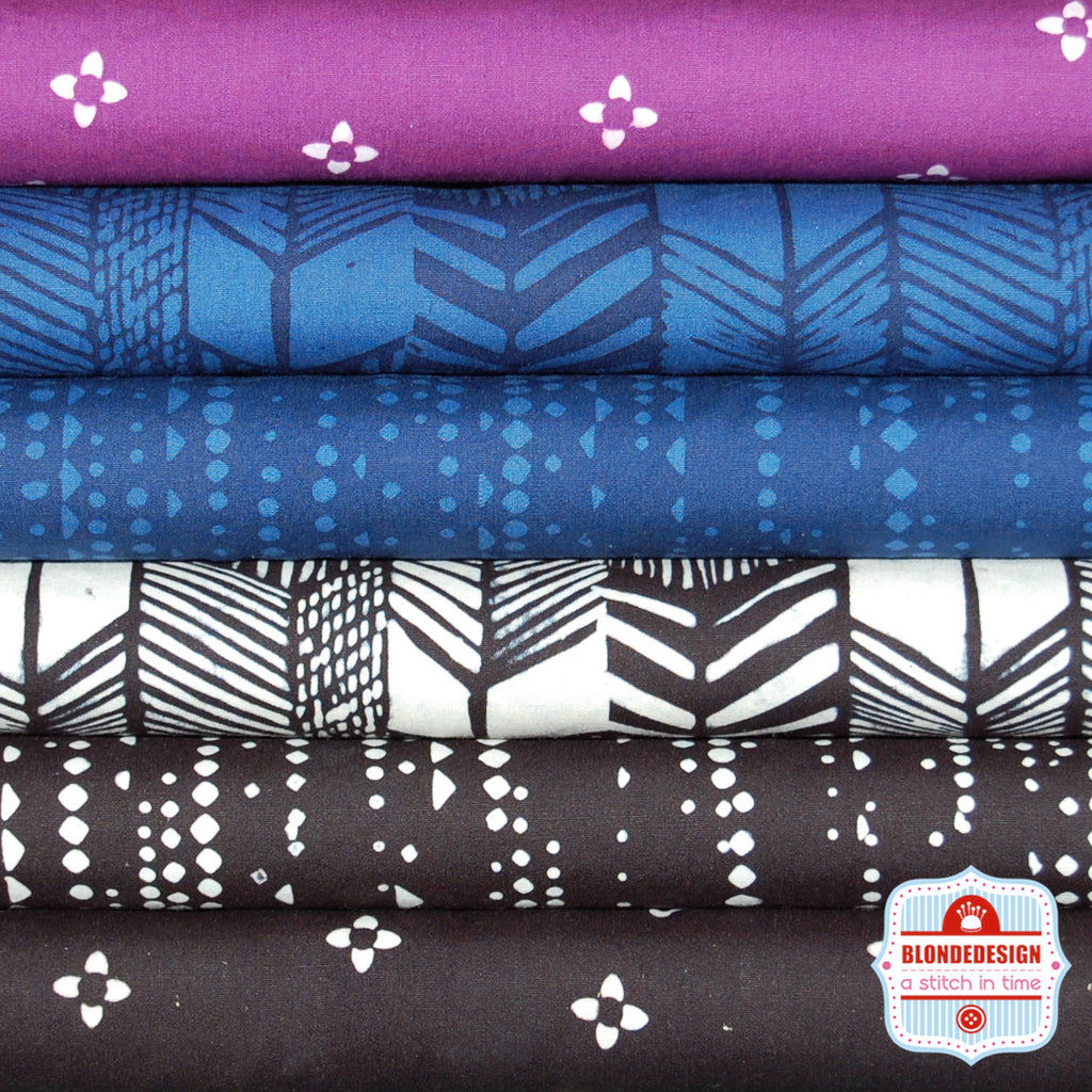 Indah Air tones by Me+You for Hoffman Fabrics x 6