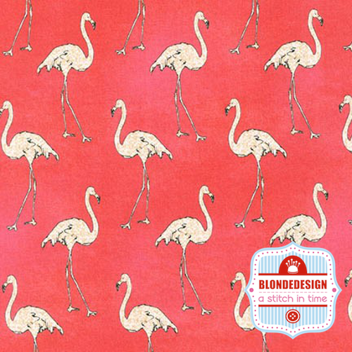 Beach Divas in Flamingos in Caribbean by Anne Tavoletti for Robert Kaufman