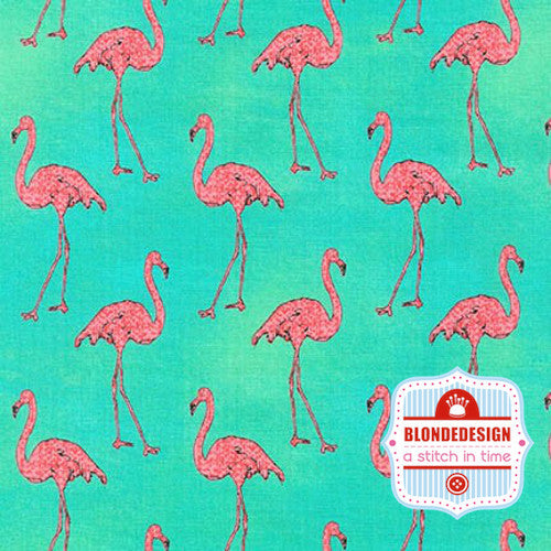 Beach Divas in Flamingos in Cabana by Anne Tavoletti for Robert Kaufman