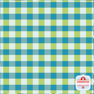 Vegetable Patch - Gingham in Blue