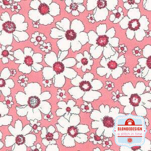 English Classics cotton poplin Daisy liberty pink CP0315
