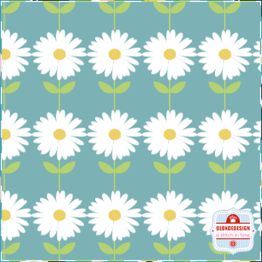Vegetable Patch - Daisies in Blue