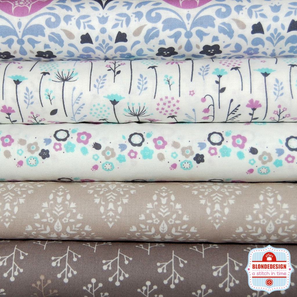 Ethereal grey by camelot fabrics  x 5