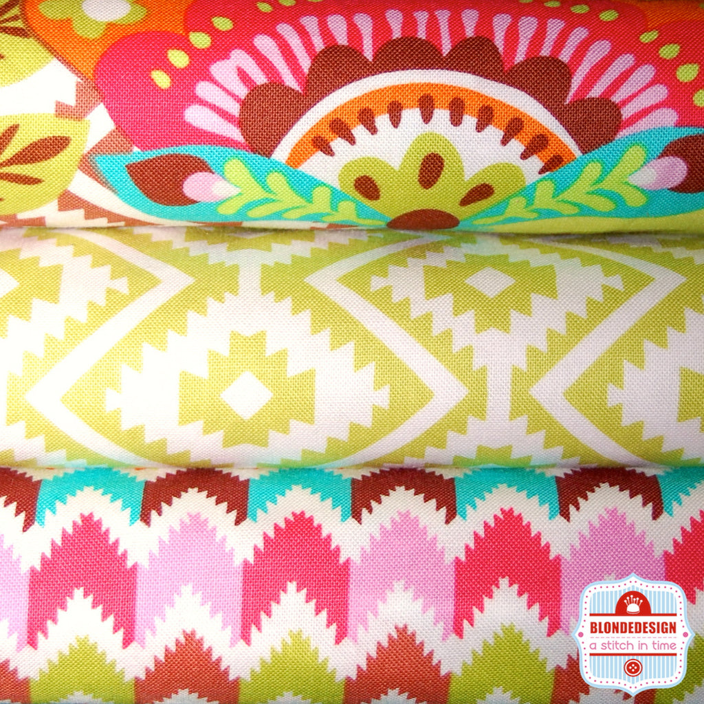 Fiesta Chocolate Kryptonite by Michael Miller Fabrics Bundle x 3