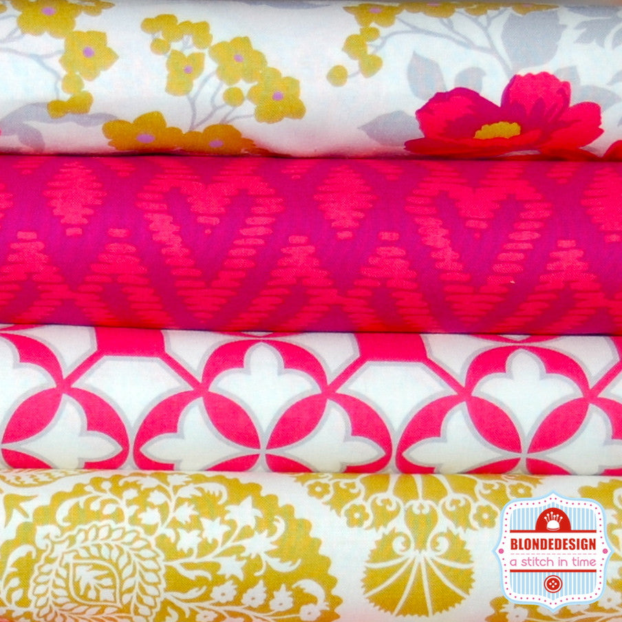 Flora classic by Joel dewberry in poppy bundle x 4