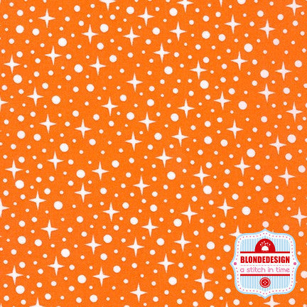 Starlight in orange by Elizabeth Hartman for Robert Kaufman