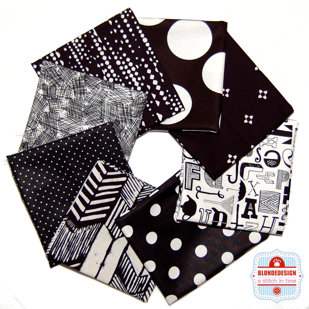 Remix Monochrome Fabric Bundle x 8