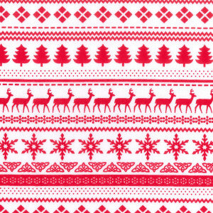 Scandi Nordic Christmas sweater stripe in red FQ