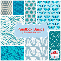 Paintbox Basics Blues by Elizabeth Hartman for Robert Kaufman x 8