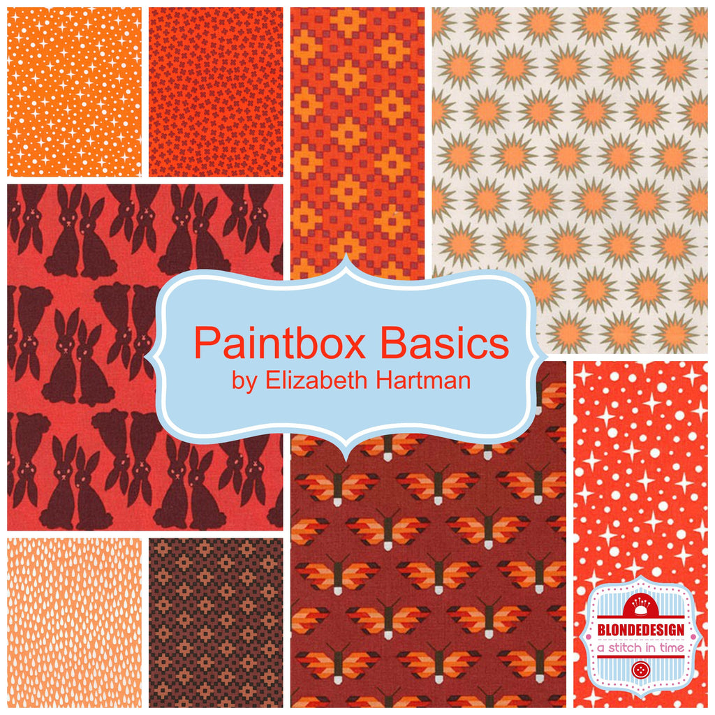 Paintbox Basics Oranges by Elizabeth Hartman for Robert Kaufman x 9