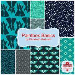 Paintbox Basics Greens by Elizabeth Hartman for Robert Kaufman x 8