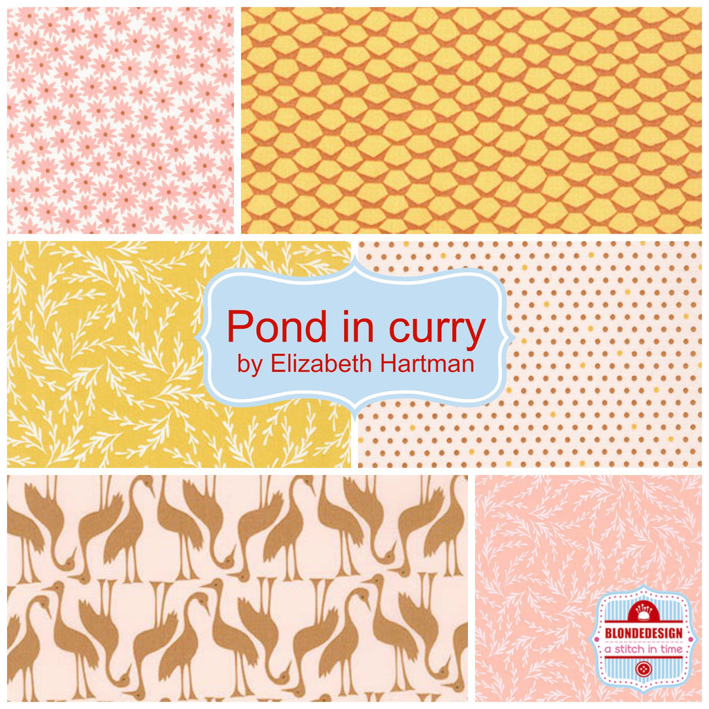 Pond in Curry by Elizabeth Hartman for Robert Kaufman x 6