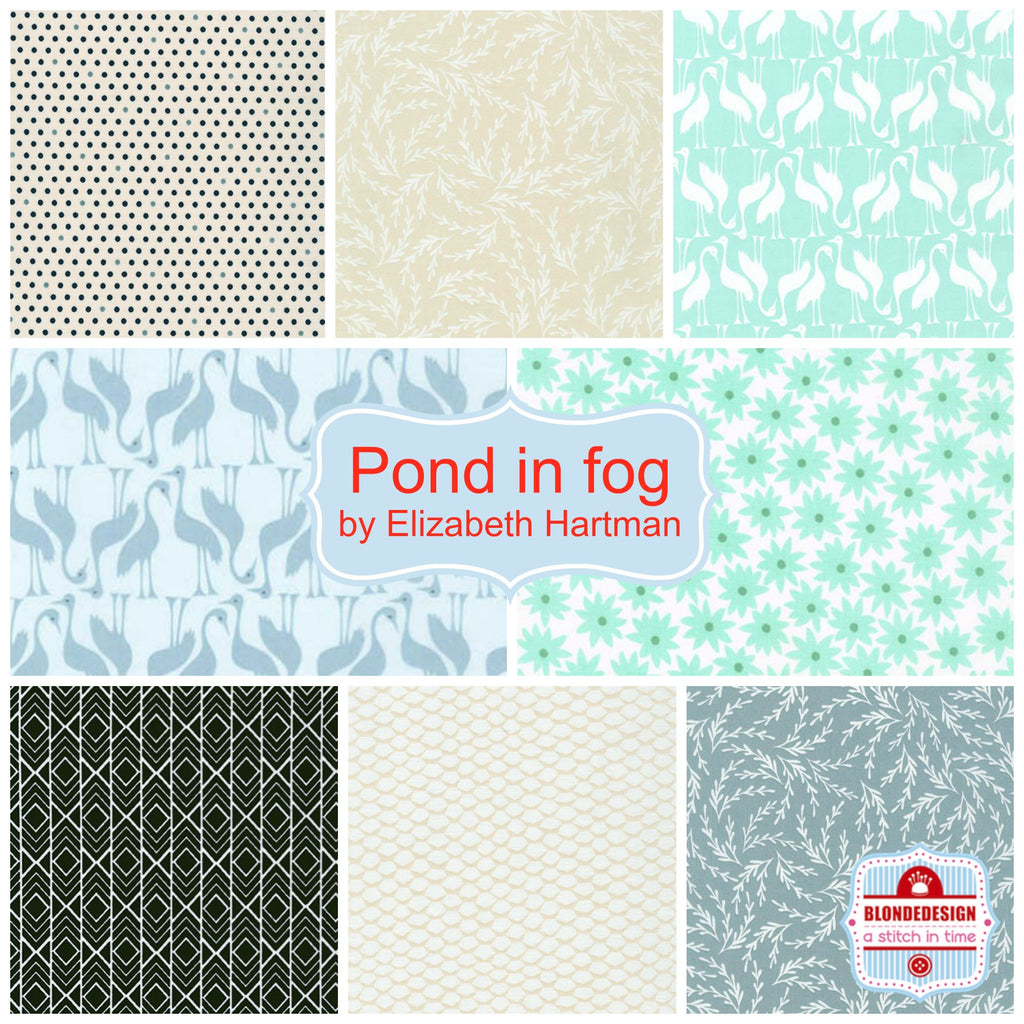 Pond in fog by Elizabeth Hartman for Robert Kaufman x 8