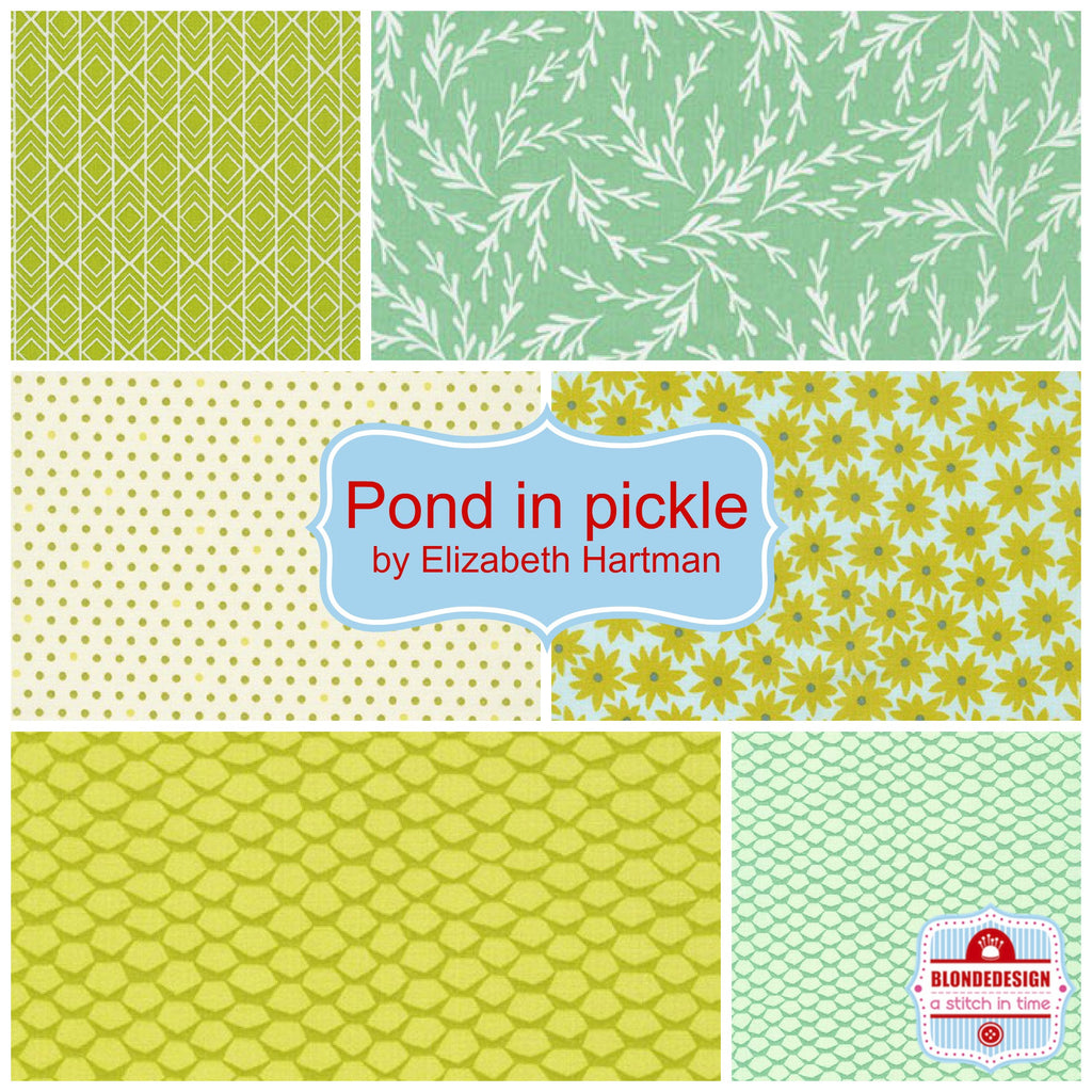 Pond in pickle by Elizabeth Hartman for Robert Kaufman x 6