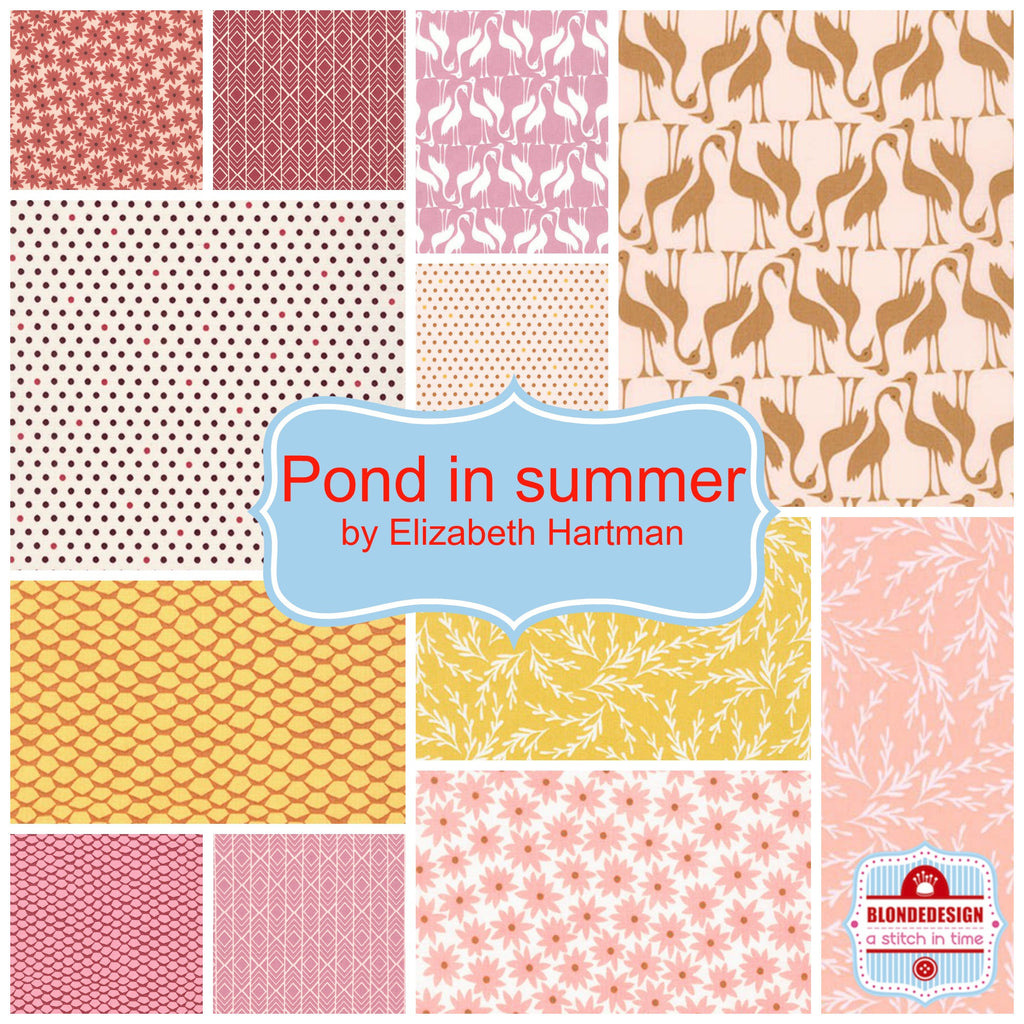Pond in summer by Elizabeth Hartman for Robert Kaufman x 12