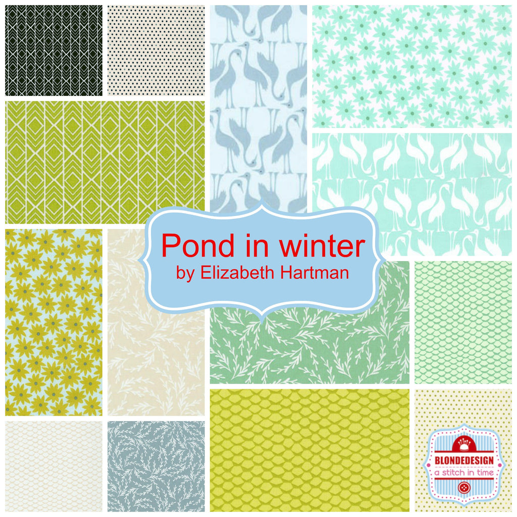 Pond in winter by Elizabeth Hartman for Robert Kaufman x 14