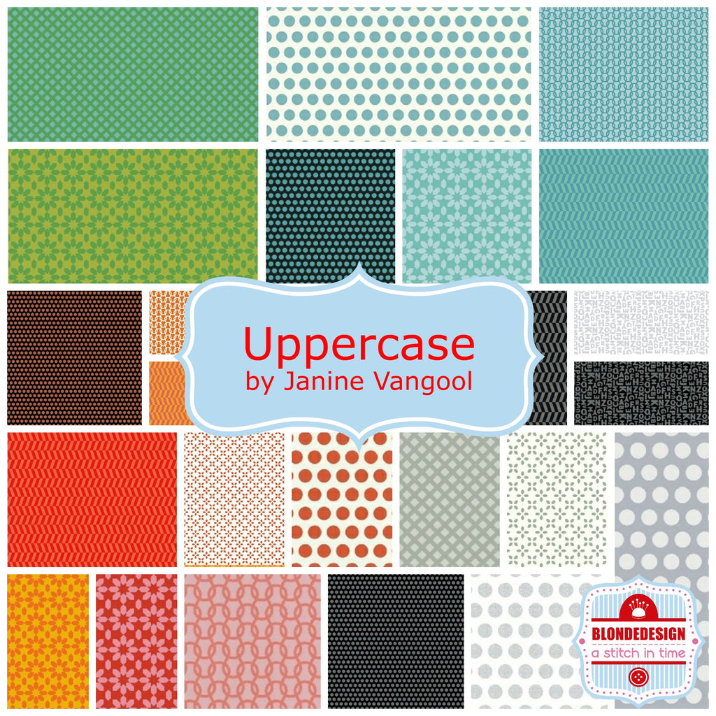 PRE-ORDER Uppercase by Janine Vangool for Windham Fabrics x29