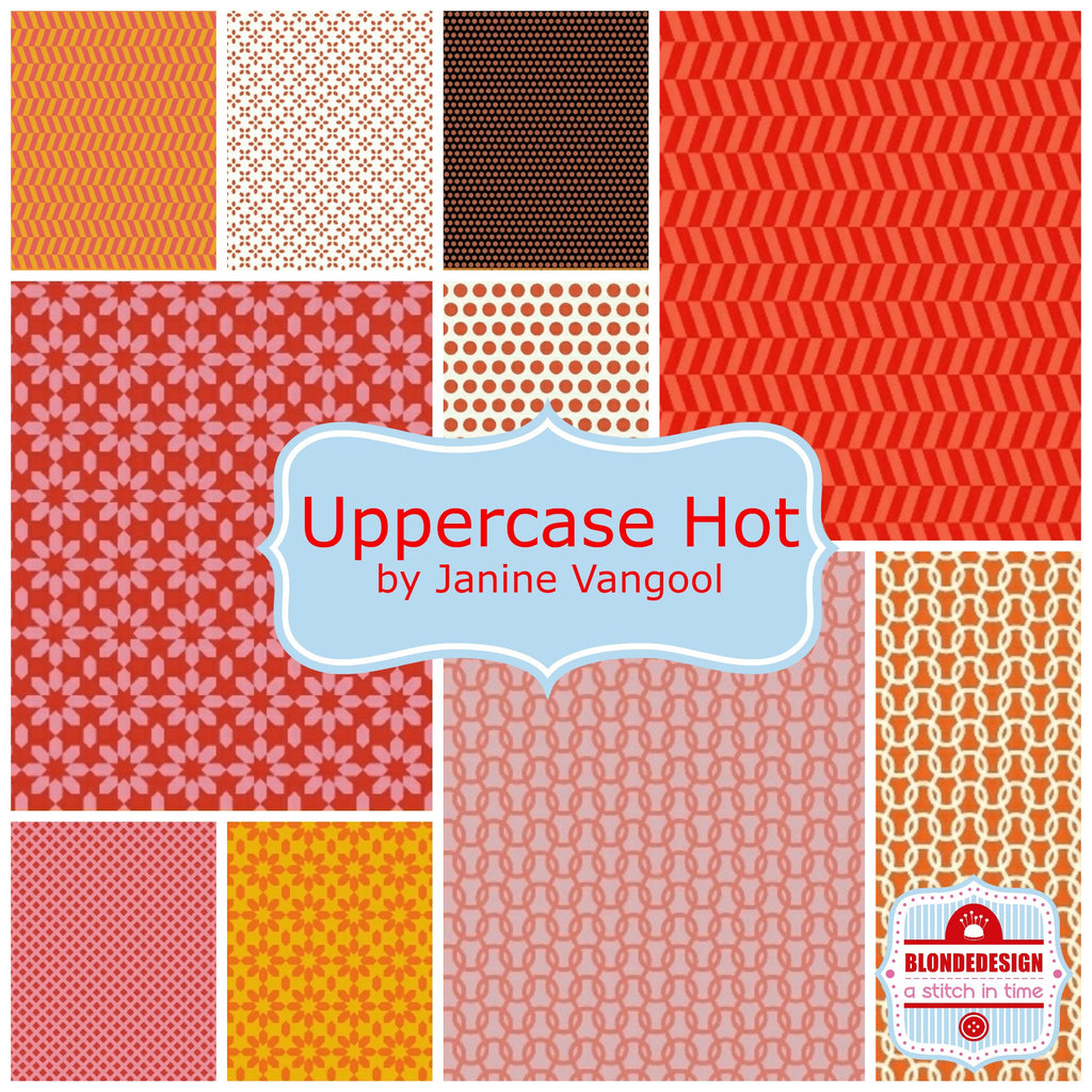 PRE-ORDER  Uppercase hot by Janine Vangool for Windham Fabrics x10