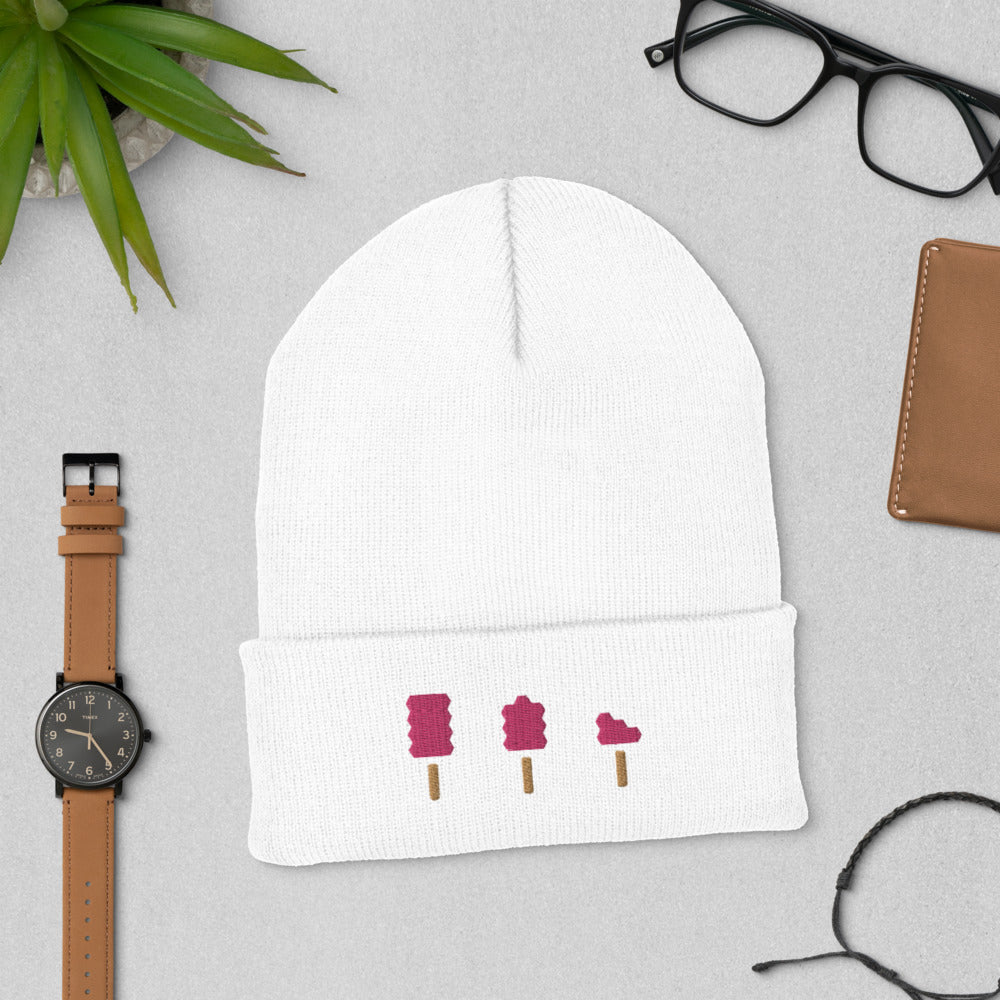 Embroidered Popsicle Cuffed Beanie