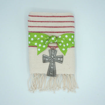 Line by Line Hand Towel with Cross Set