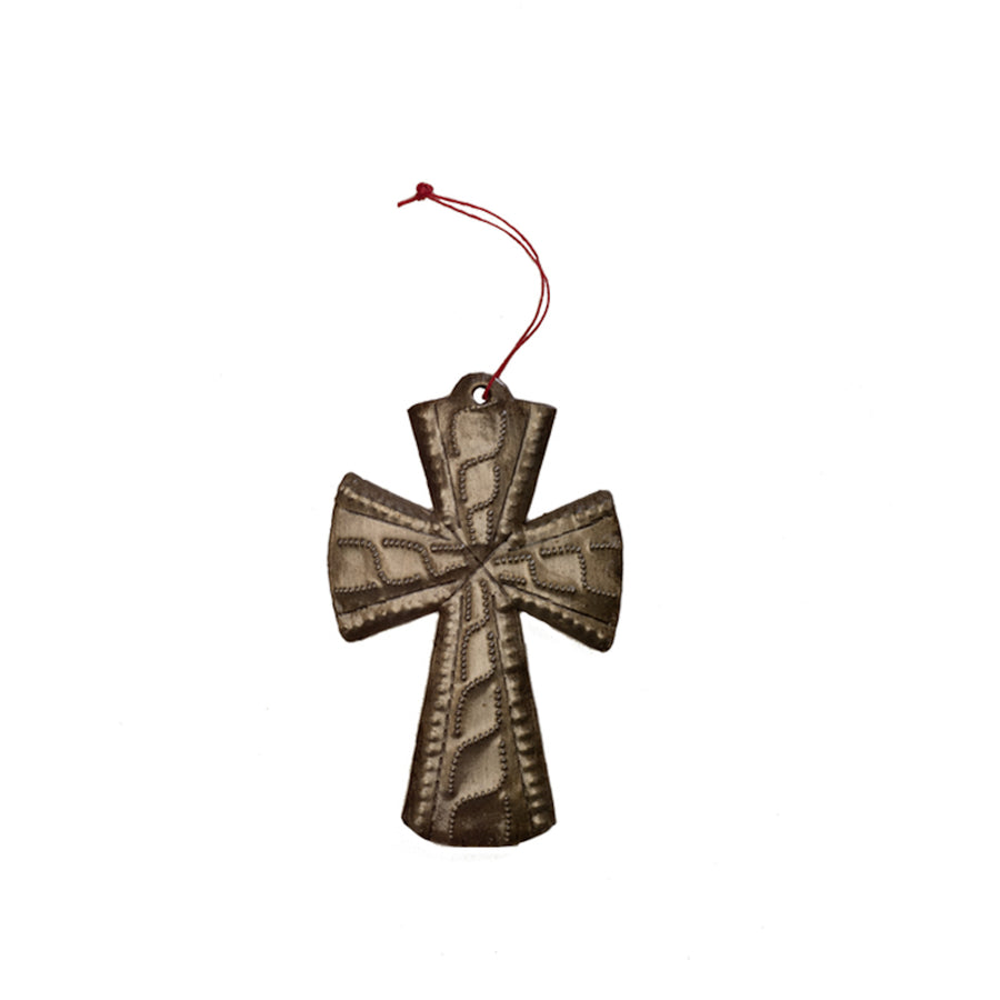 The Haitian Metal Cross is beautifully and intricately handcrafted in Haiti. The cross makes the perfect gift. Each cross comes pre-wrapped and ready to give with a gift tag. 3.25 inches by 2.5 inches. Handmade from up-cycled steel drums