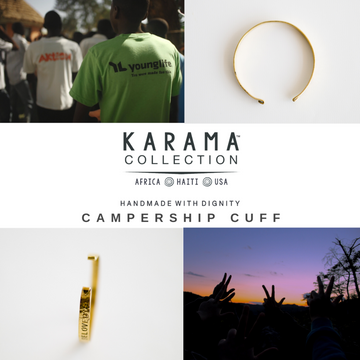 Karama Collection Africa, Haiti, USA. Handmade with dignity, Campership Cuff
